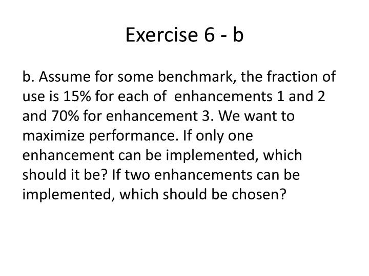 Exercise 6 - b