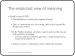 the empiricist view of meaning