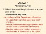 answer abduction survey1