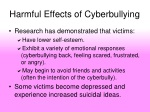 harmful effects of cyberbullying