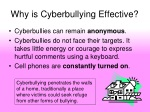 why is cyberbullying effective