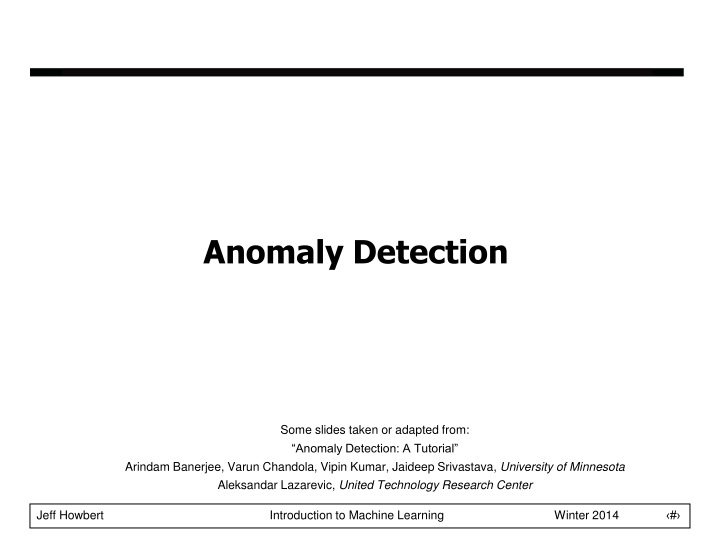 anomaly detection n.