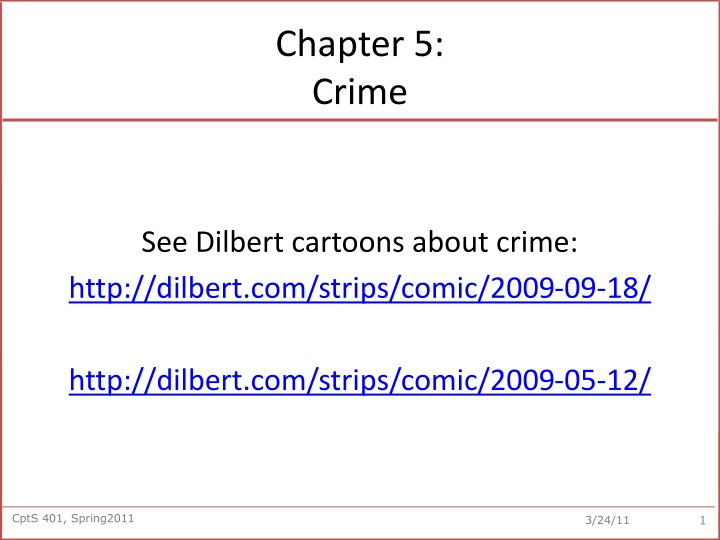 Chapter 5 crime
