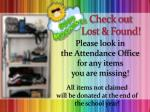 check out lost found