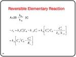 reversible elementary reaction
