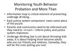 monitoring youth behavior probation and more than
