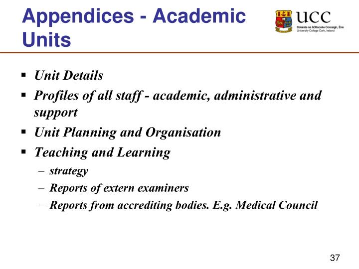 Appendices - Academic