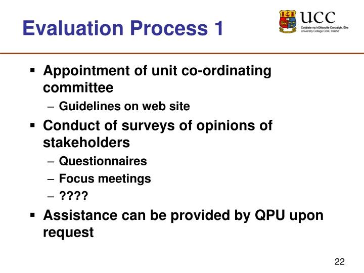 Evaluation Process 1