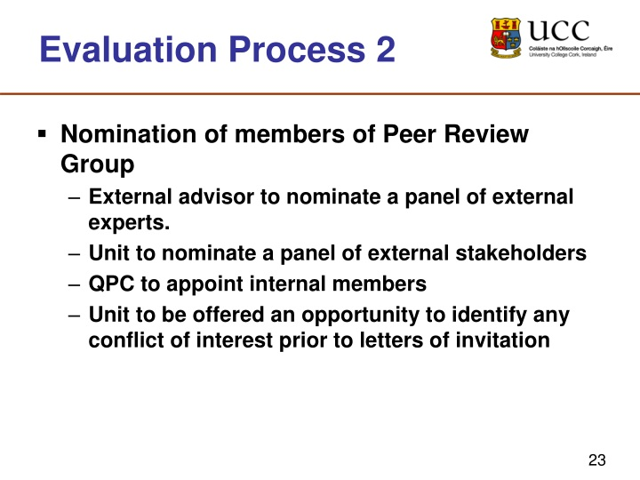 Evaluation Process 2