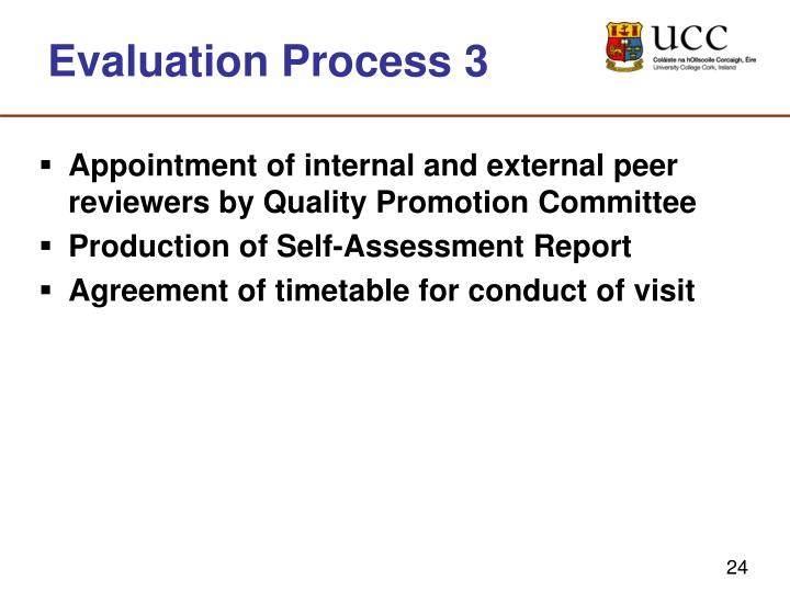 Evaluation Process 3