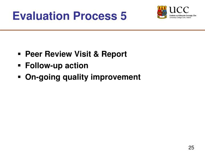 Evaluation Process 5