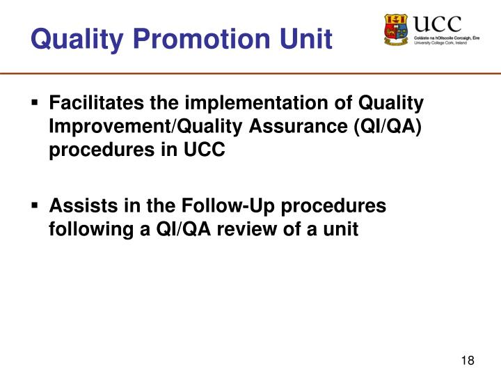 Quality Promotion Unit