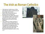 the irish as roman catholics