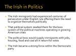 the irish in politics