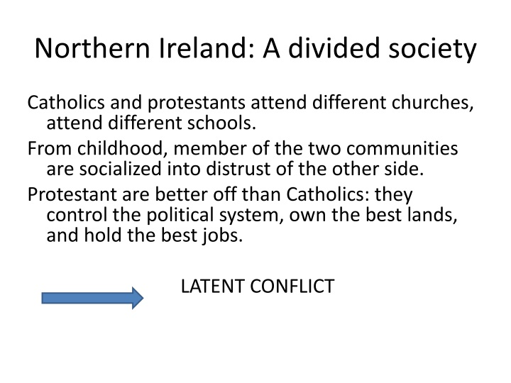 the northern ireland conflict essay Northern ireland, in the northeast, is a part of the united kingdom the republic of ireland is an independent country a conflict between the two main religious groups, the protestants and the catholics, has been going on for over four hundred years.
