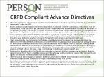 crpd compliant advance directives