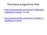 panorama programme links