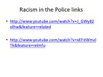 racism in the police links