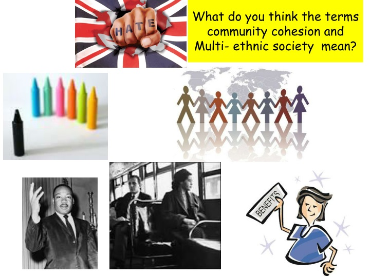 what do you think the terms community cohesion and multi ethnic society mean