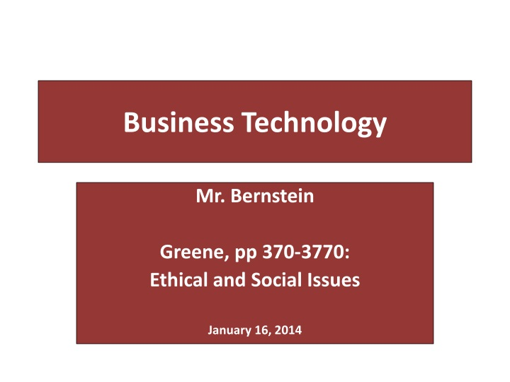 business technology n.