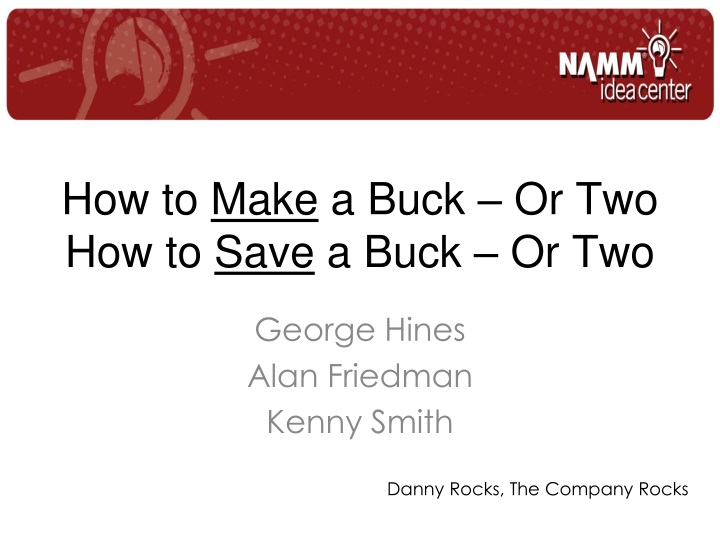 How to make a buck or two how to save a buck or two