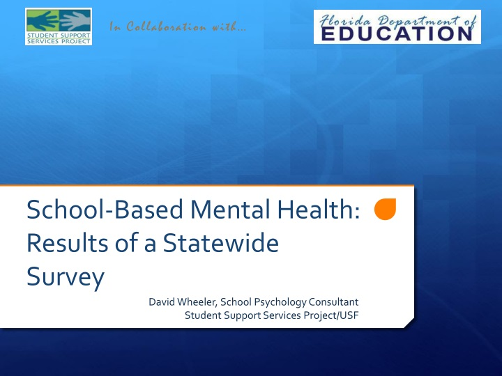 school based mental health results of a statewide survey n.