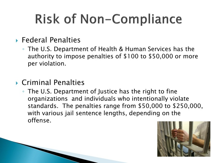 Risk of Non-Compliance