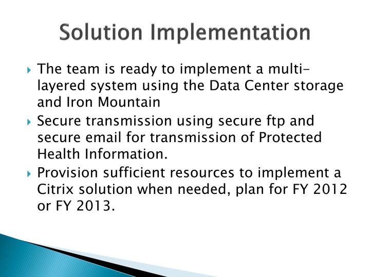 Solution Implementation