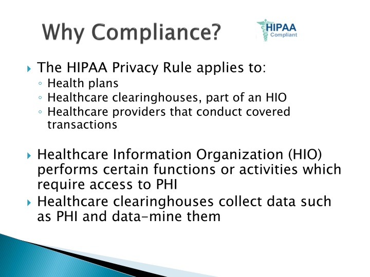 Why Compliance?