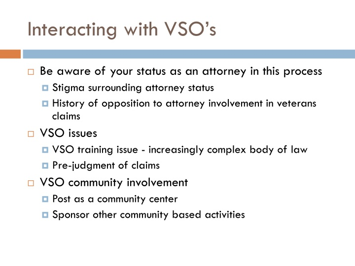 Interacting with VSO's