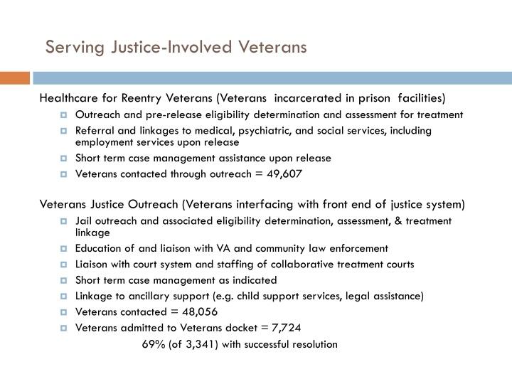 Serving Justice-Involved Veterans