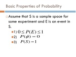 basic properties of probability