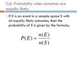 cal probability when outcomes are equally likely