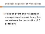 empirical assignment of probabilities