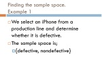 finding the sample space example 1