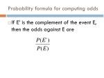 probability formula for computing odds
