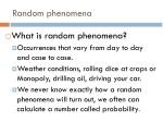 random phenomena