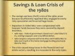 savings loan crisis of the 1980s