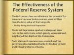 the effectiveness of the federal reserve system