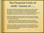the financial crisis of 2008 causes of2