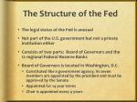 the structure of the fed
