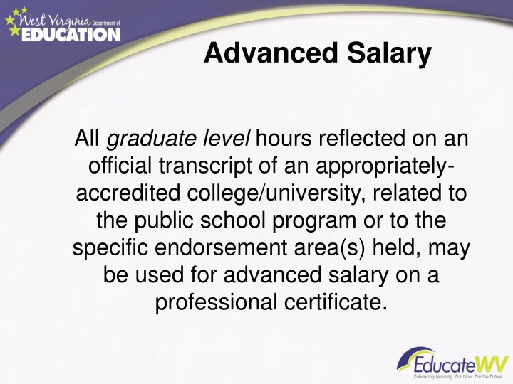 Advanced Salary