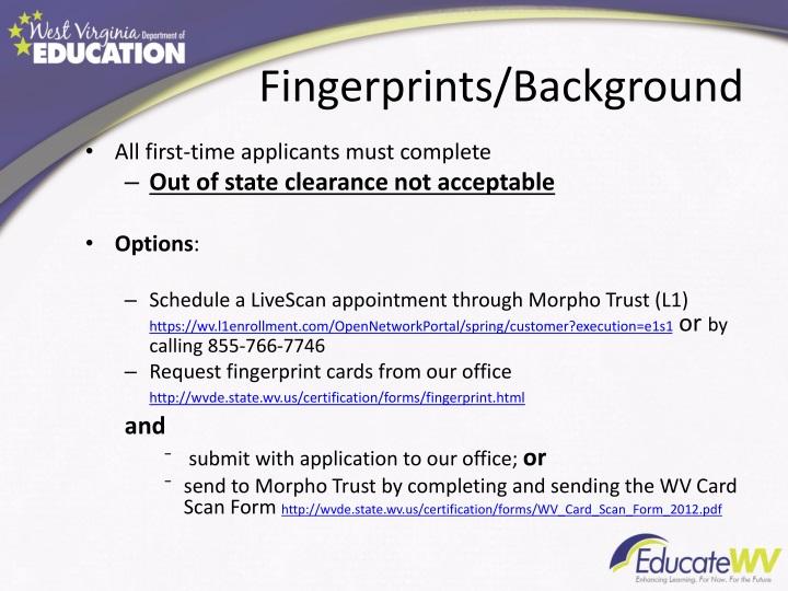 Fingerprints/Background
