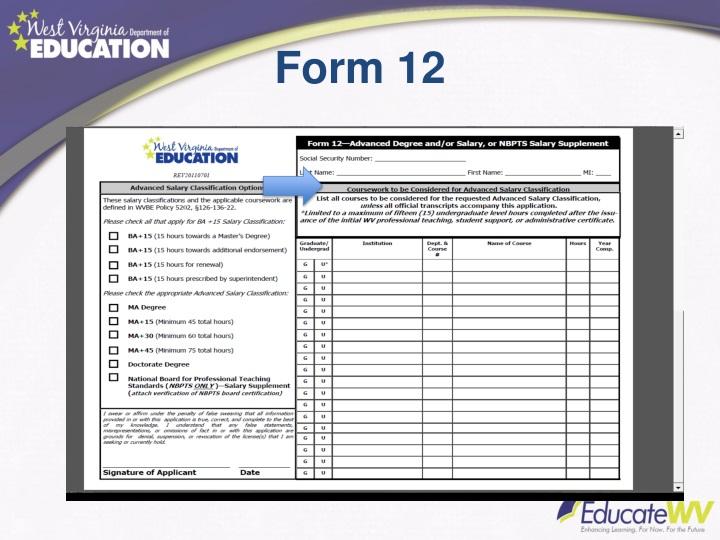 Form 12