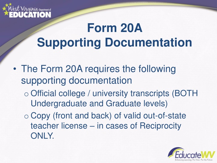 Form 20A