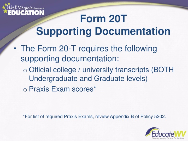 Form 20T