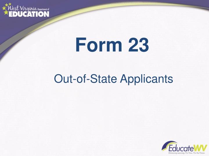 Form 23