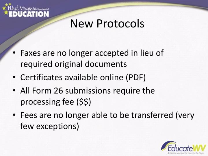 New protocols
