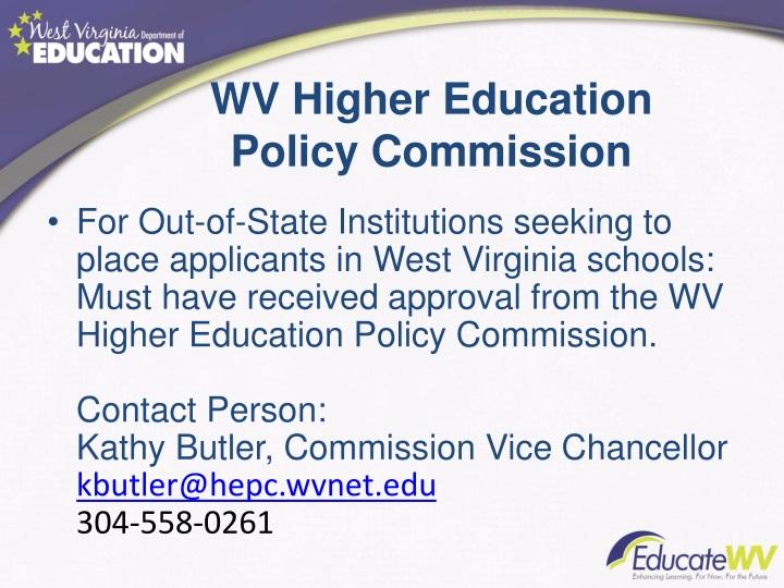 WV Higher Education