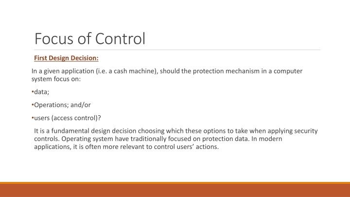 Focus of Control
